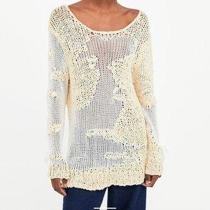 Zara loose knit sweater